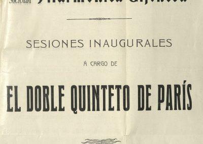 1. Primer concierto de la Filarmónica de Gijón I. Mayo 1908