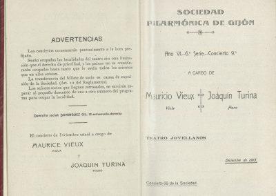 10. Concierto Vieux y Turina I. Diciembre 1913