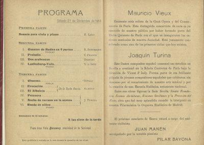 11. Concierto Vieux y Turina II. Diciembre 1913
