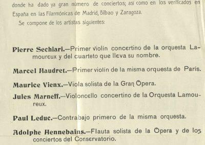 2. Primer concierto de la Filarmónica de Gijón II. Mayo 1908