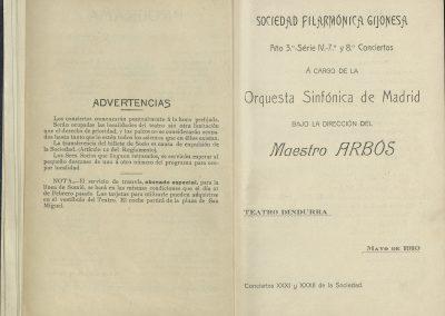 6. Concierto Orquesta Sinfónica de Madrid I. Mayo 1910