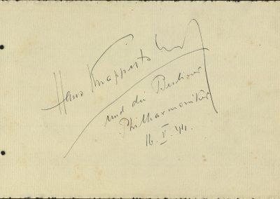 7. Álbum de firmas. Hans Knappertsbusch y la Filarmónica de Berlín. Mayo 1944