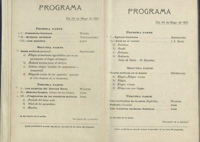 7. Concierto Orquesta Sinfónica de Madrid II. Mayo 1910