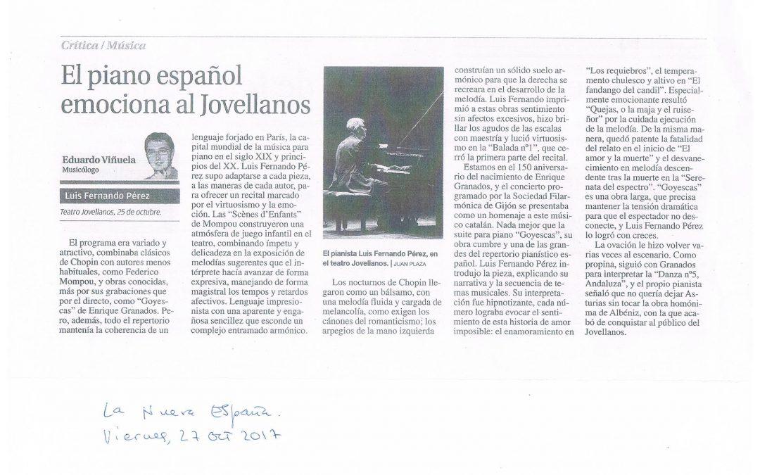 El piano español emociona al Jovellanos