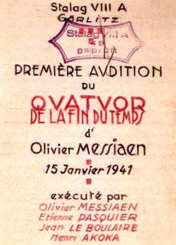 Conferencia de Iyán Fernández Ploquín. «Música para el fin del tiempo: El éxtasis sonoro de Olivier Messiaen».
